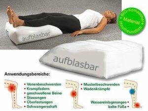 Orthopädisches Venenkissen - BIO getestet & aufblasbar