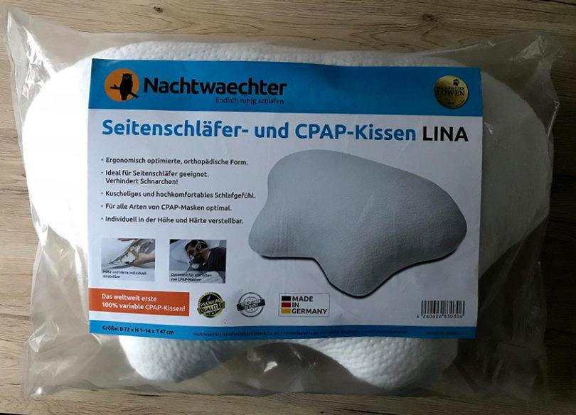 Nachtwaechter Seitenschläferkissen - Verpackung