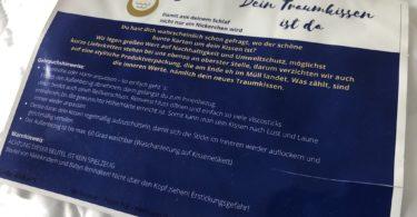 Seitenschläferkissen - Mr Snooze - Nackenstützkissen - Verpackung